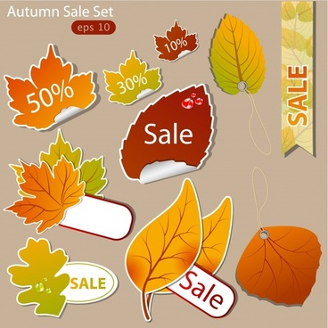 young leaves leaf labels vector