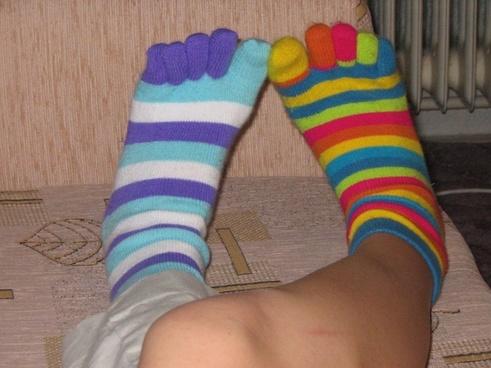 your feet in socks