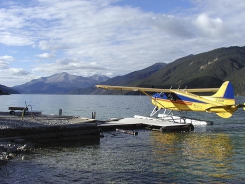 yukon territory float plane lake