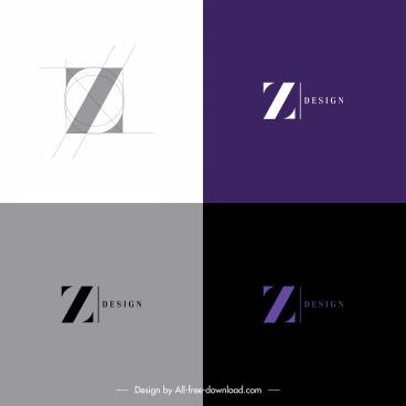 z logo templates modern flat sketch