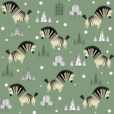 zebra background repeating colored icons