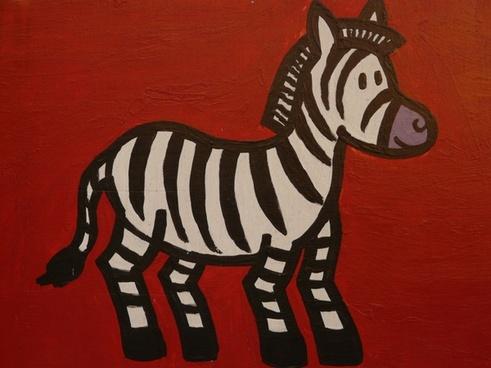 zebra cartoon character drawing