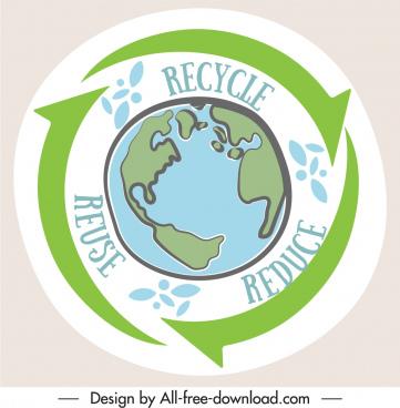 zero waste banner flat handdrawn earth arrow sketch