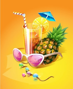 zest summer drink vector