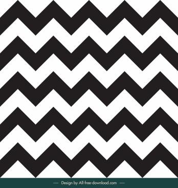 zigzag pattern template black white flat symmetric design
