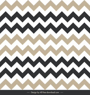zigzag pattern template bright flat decor symmetric illusion
