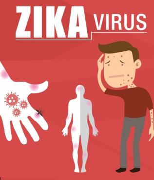 zika virus vector illustration