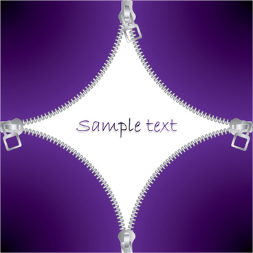 zipper with purple background vector graphics
