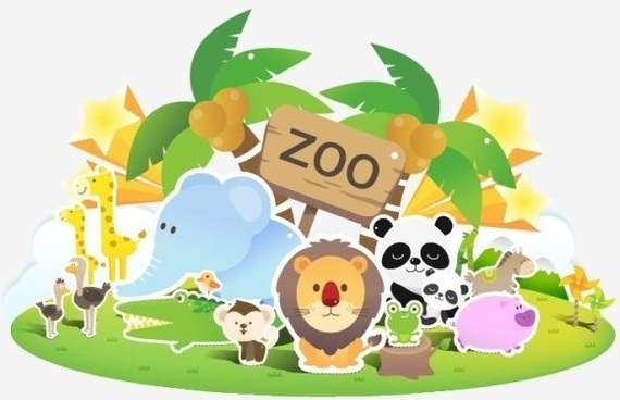 zoo lovely vector