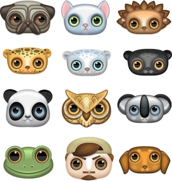 Zoom-eyed creatures icons pack