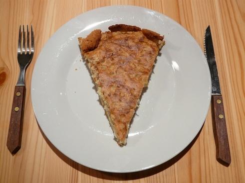 zwiebelkuchen onion cake piece piece