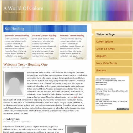 A World Of Colors Template