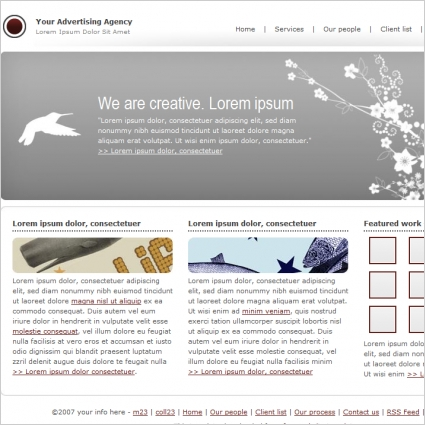 advertising agency template free website templates in css html js