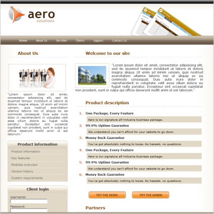 Aero Solutions Template