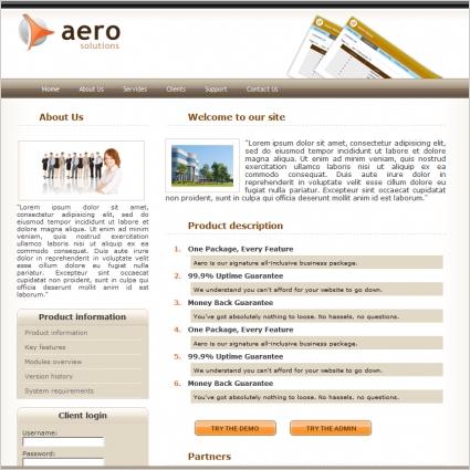 Aero Solutions Template