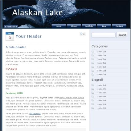 Alaskan Lake Template