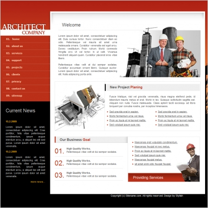 Architect company template free website templates in css html js architect company template flashek