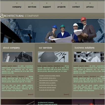 architectural company template free website templates in css html