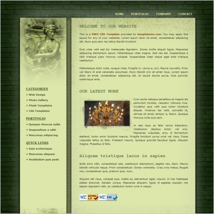 art gallery website template free download