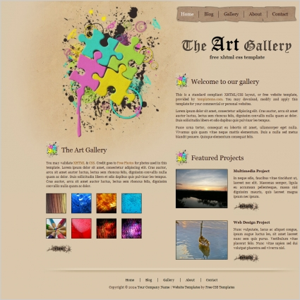 art gallery Free website templates in css, html, js format for free ...