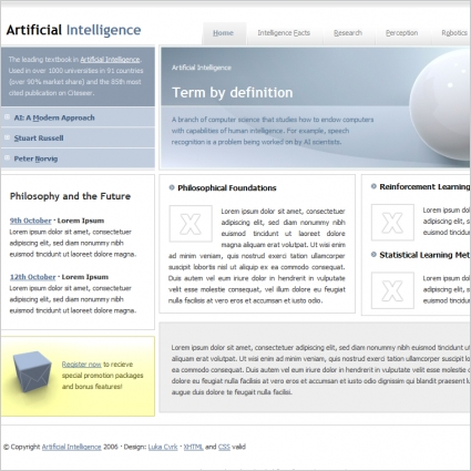Artificial intelligence template free website templates in css html artificial intelligence template cheaphphosting Choice Image