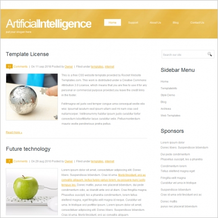 Artificialintelligence template free website templates in css html artificialintelligence template toneelgroepblik Image collections