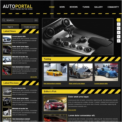 auto portal template free website templates in css html js format