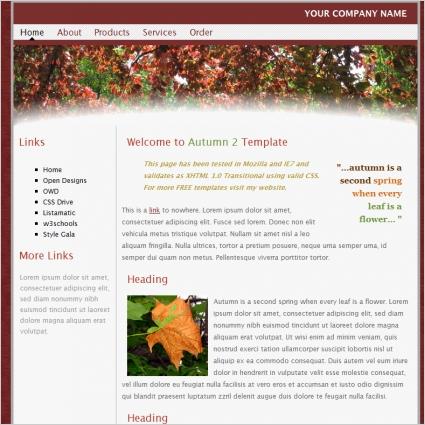 Autumn 2 Template