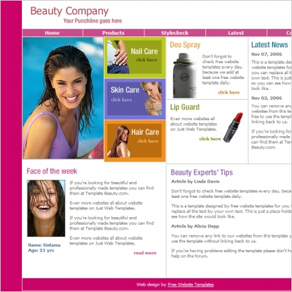Beauty Company Template