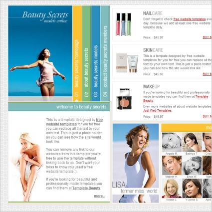 Beauty Secrets Template