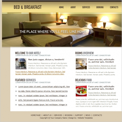 Bed & Breakfast Template