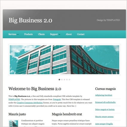 Big business 20 free website templates in css html js format for big business 20 fbccfo