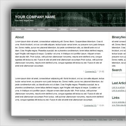 Binary News Template