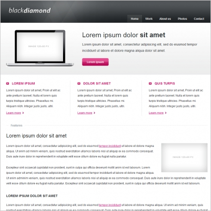 black diamond template free website templates in css html js