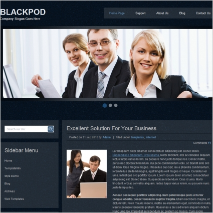 Black Pod Template Free website templates in css, html, js format ...