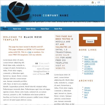 Black Rose Template