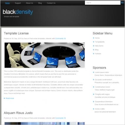 blackdensity Template