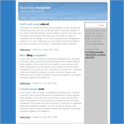 Blue Blog Template