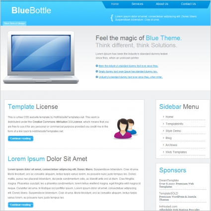 Blue Bottle Template