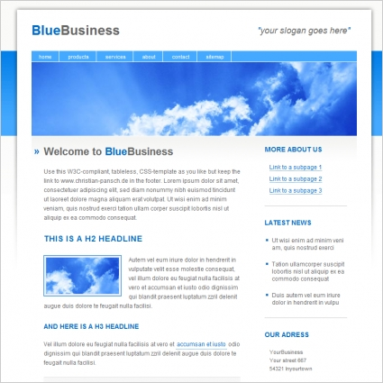 Blue business template free website templates in css html js blue business template wajeb Gallery