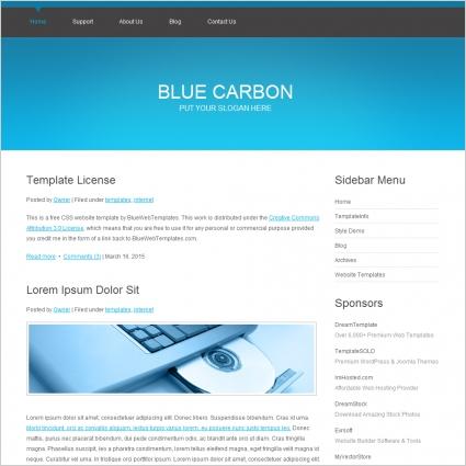 Blue Carbon Template