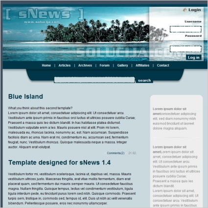 Blue Island Template Free website templates in css, html, js format ...