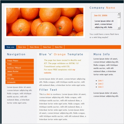 Blue 'n' Orange Template