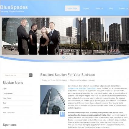 Blue Spades Template