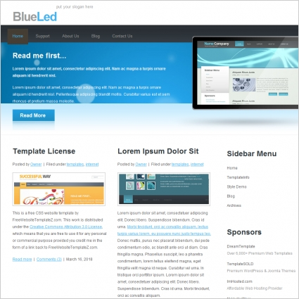BlueLed Template