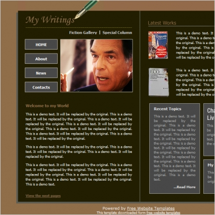 Book Author Template Free Website Templates In Css Html Js Format