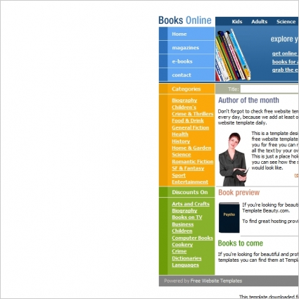 Books Online Template Free Website Templates In Css Html Js Format - Online book template free