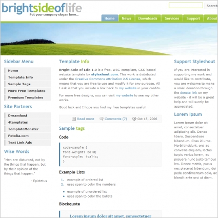 Bright Side of Life 1.0 Template