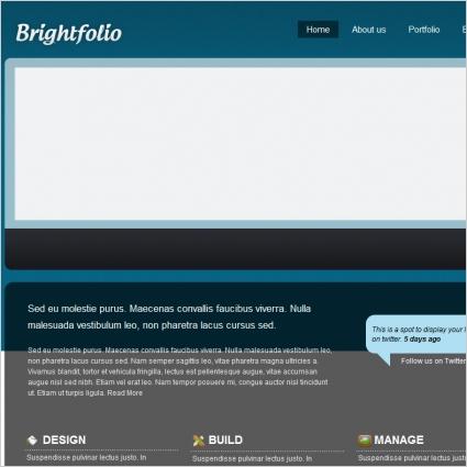 BrightFolio Template