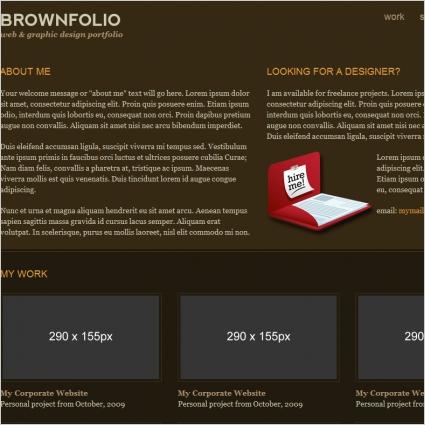 BrownFolio Template